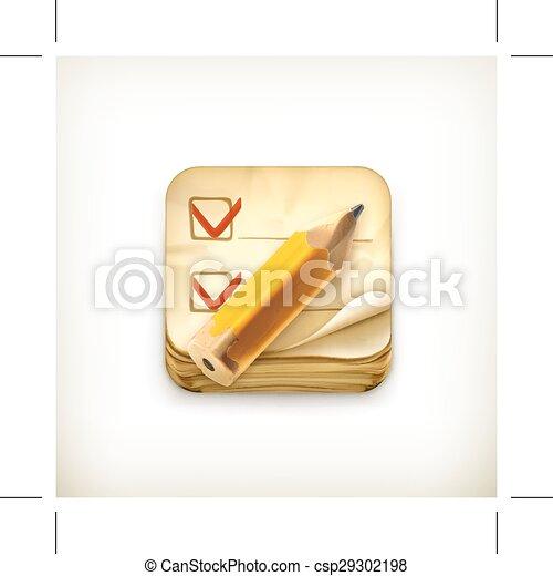 Comprueba el icono de la lista - csp29302198