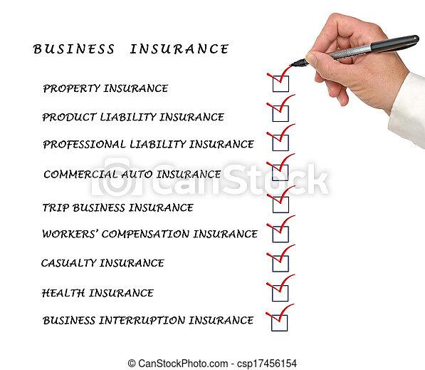Comprueba la lista de seguros de negocios - csp17456154