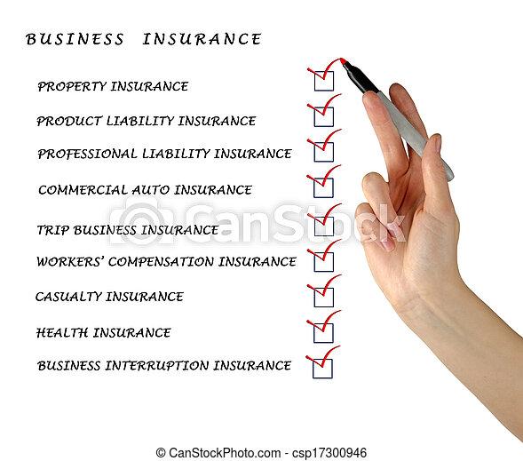 Comprueba la lista de seguros de negocios - csp17300946