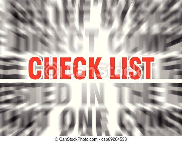 Lista de comprobación - csp69264533