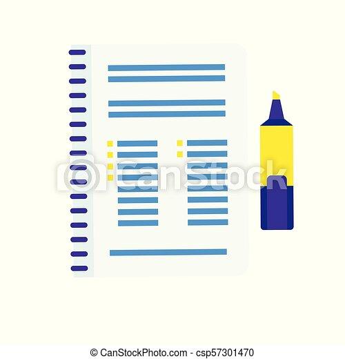 Lista de registro en una hoja de papel - csp57301470