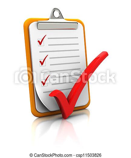 Clipboard con lista - csp11503826