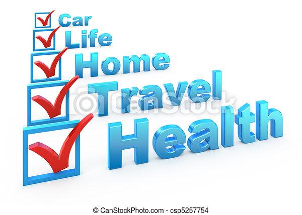 Una lista de seguros - csp5257754