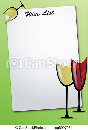 La lista de vinos - csp6997084