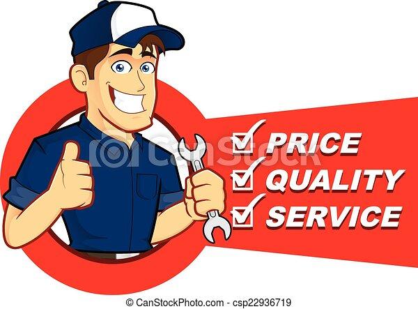 Mecánico con lista de servicio - csp22936719