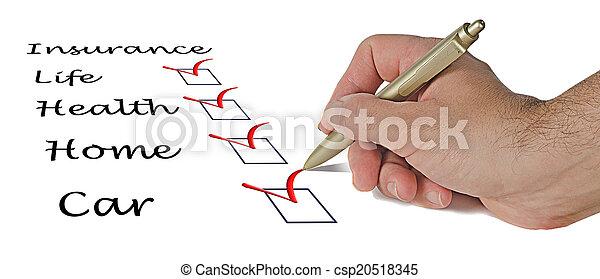 liste, assurance - csp20518345