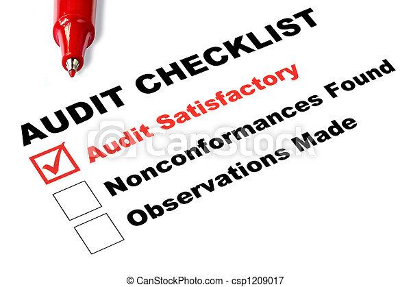 liste contrôle, audit - csp1209017
