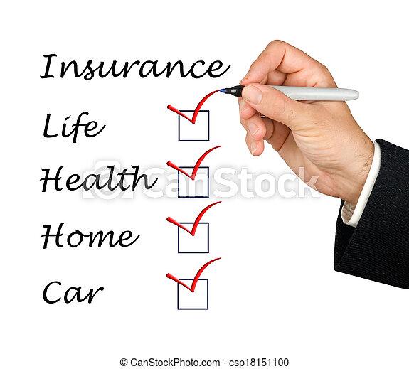 liste, forsikring - csp18151100