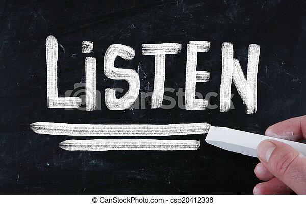 listen concept - csp20412338