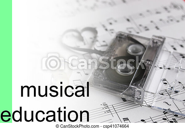 listen courses music notes background - csp41074664