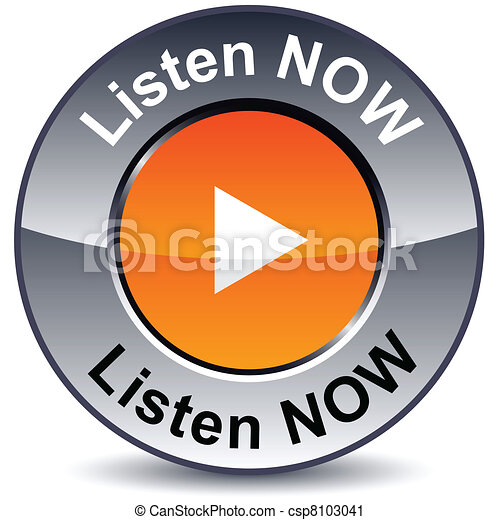 Listen now round button. - csp8103041