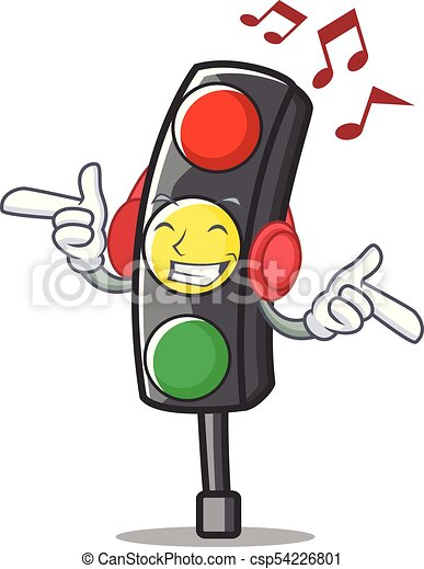 Listening music traffic light character cartoon - csp54226801  sc 1 st  Can Stock Photo : traffic light costume  - Germanpascual.Com