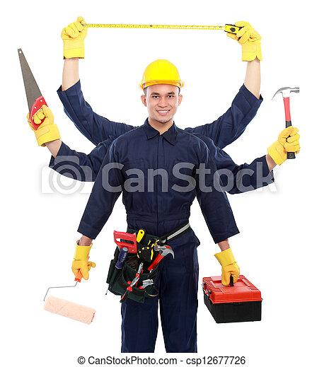 listo, trabajador industrial, trabajo - csp12677726