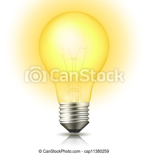 Lit Light Bulb - csp11380259