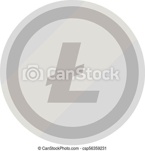 Vector de símbolo de Litecoin - csp56359231