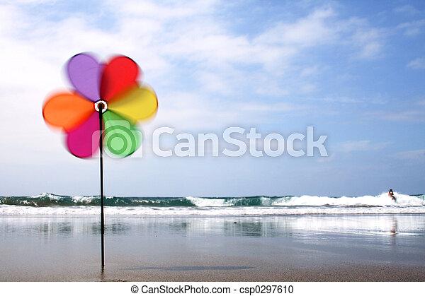 liten sol, strand - csp0297610
