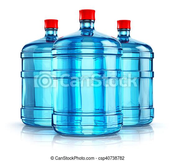 liter, びん, 19, 飲みなさい, 3, プラスチック, 水, 5, ガロン, ∥あるいは∥ - csp40738782