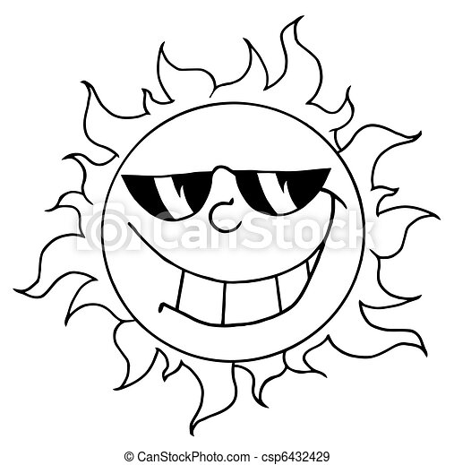 litera, rysunek, słońce, maskotka - csp6432429