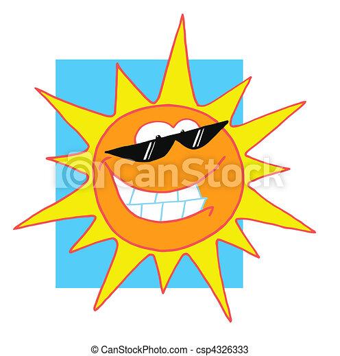 litera, szczęśliwy, słońce, jasny - csp4326333
