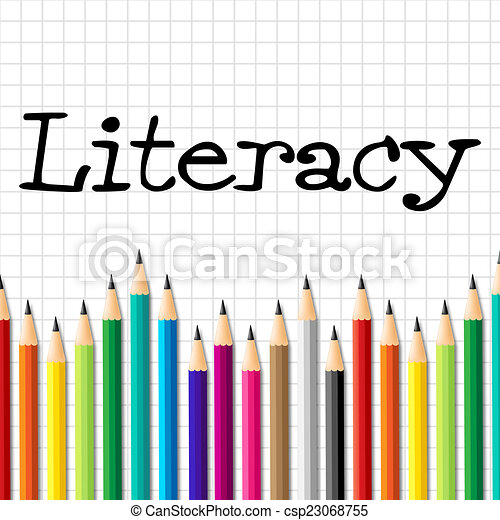 Literacy Pencils Represents Train Proficiency And Develop Literacy