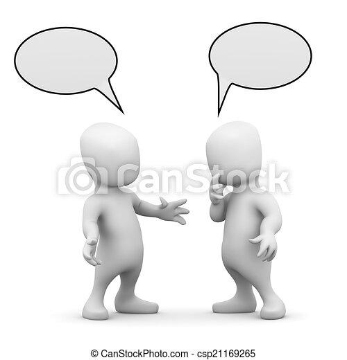 litet, män, två, talande, annat, varje, 3 - csp21169265