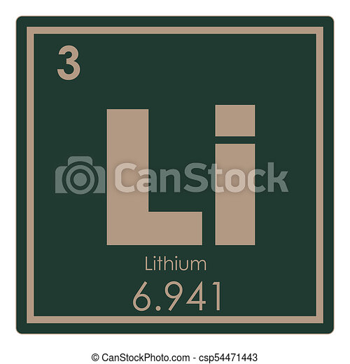 Lithium chemical element periodic table science symbol lithium chemical element csp54471443 urtaz Gallery