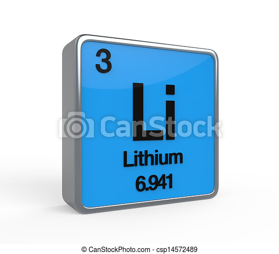 Lithium element periodic table isolated on white background 3d render lithium element periodic table csp14572489 urtaz Image collections