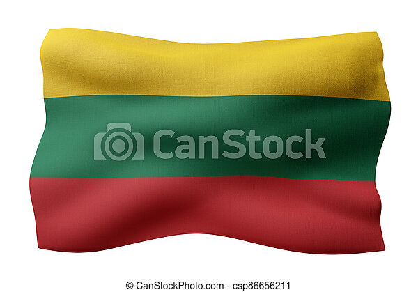 Lithuania 3d flag - csp86656211