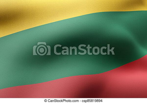 Lithuania 3d flag - csp85819894