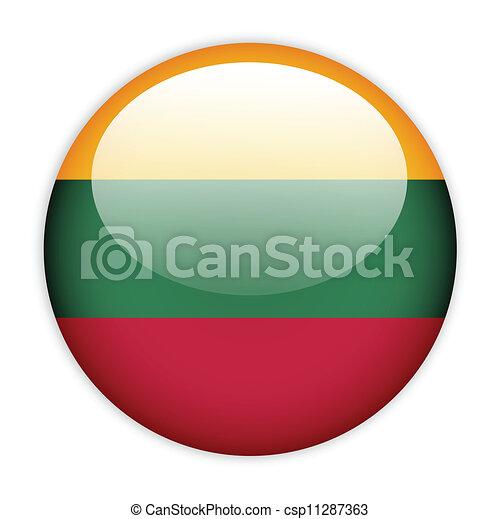 Lithuania flag button - csp11287363