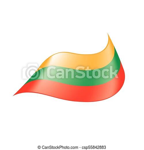 Lithuania flag, vector illustration - csp55842883