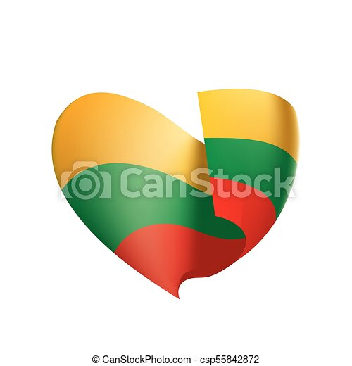 Lithuania flag, vector illustration - csp55842872