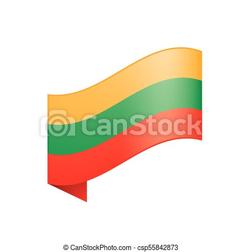 Lithuania flag, vector illustration - csp55842873
