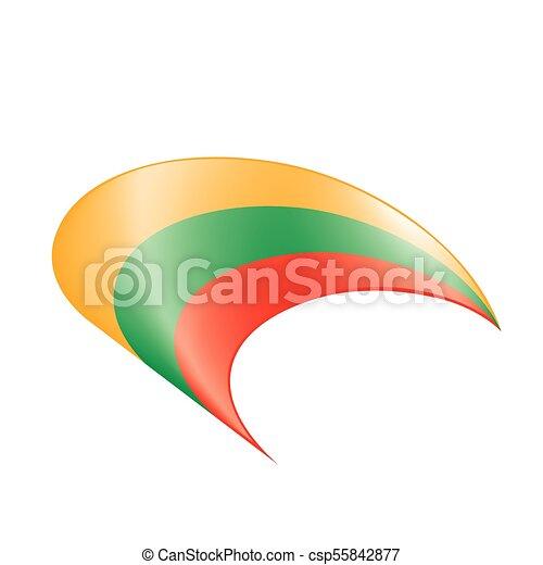 Lithuania flag, vector illustration - csp55842877