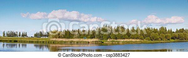 Lithuanian landscape panorama - csp3883427