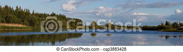 Lithuanian landscape panorama - csp3883428