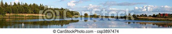Lithuanian landscape panorama - csp3897474