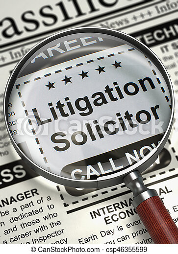 Litigation Solicitor Wanted. 3D. - csp46355599