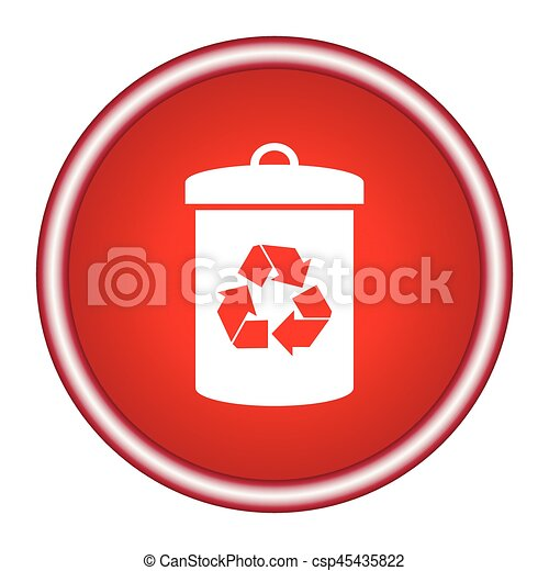 Litter sign illustration. White icon in the red square. - csp45435822