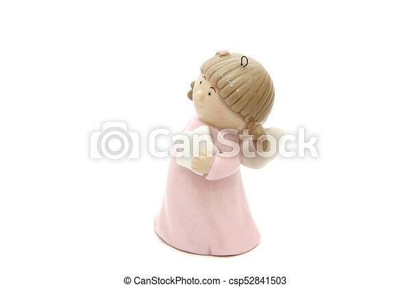 Little angel christmas tree toy - csp52841503