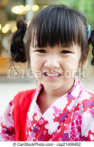 d38ac3889 Little asian child in japanese traditional costume. Little asian ...