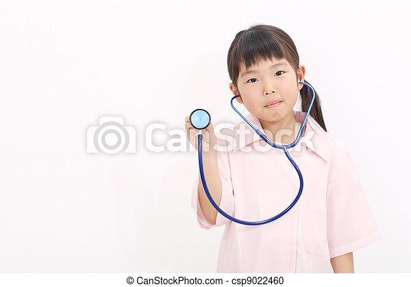 e134fdd1179 little asian girl nurse
