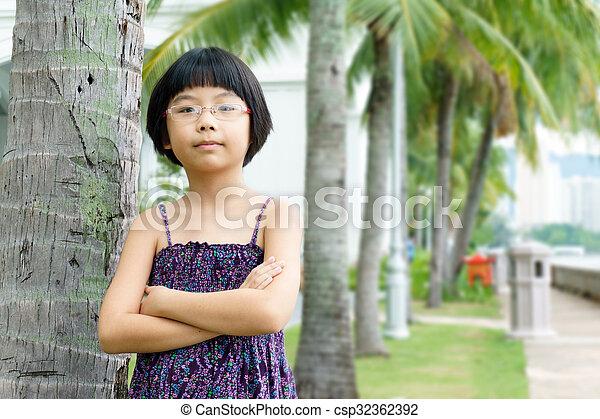 Little Asian girl - csp32362392