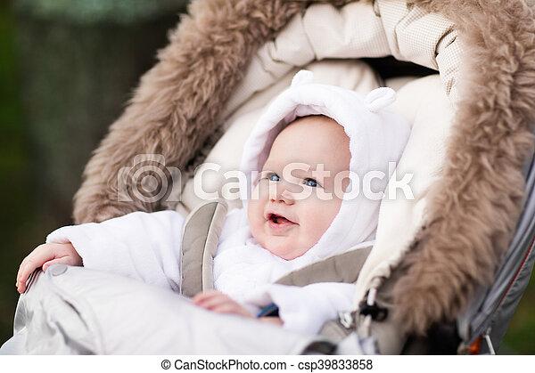 Little baby in stroller - csp39833858