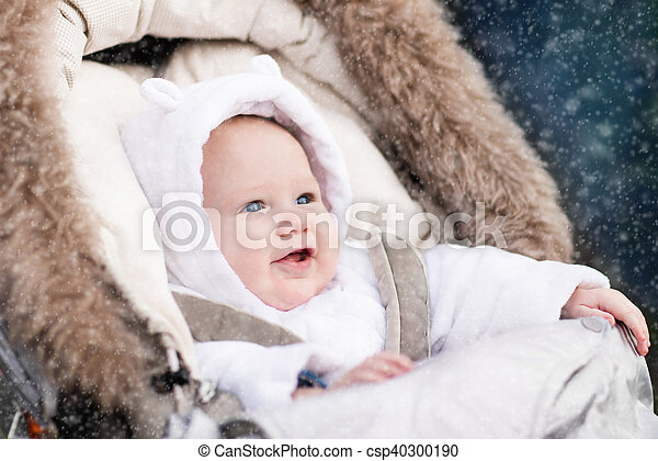 Little baby in stroller - csp40300190