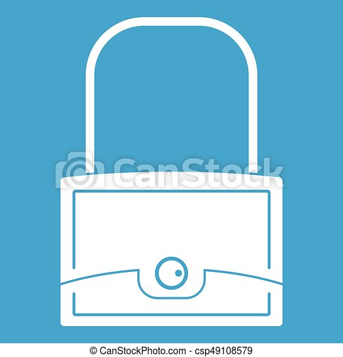 Little bag icon white - csp49108579