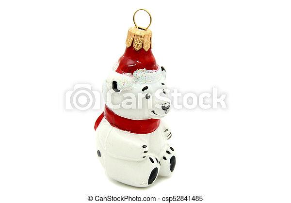 Little bear christmas tree toy - csp52841485