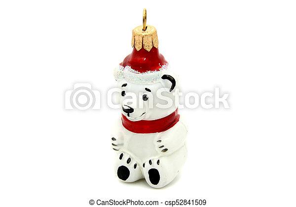 Little bear christmas tree toy - csp52841509