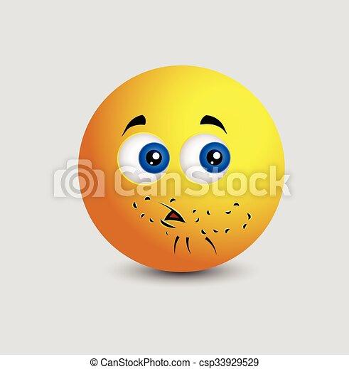 Little Beard Smiley Emoticon - csp33929529