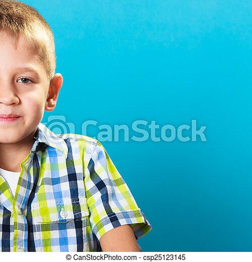Little boy child portrait - csp25123145